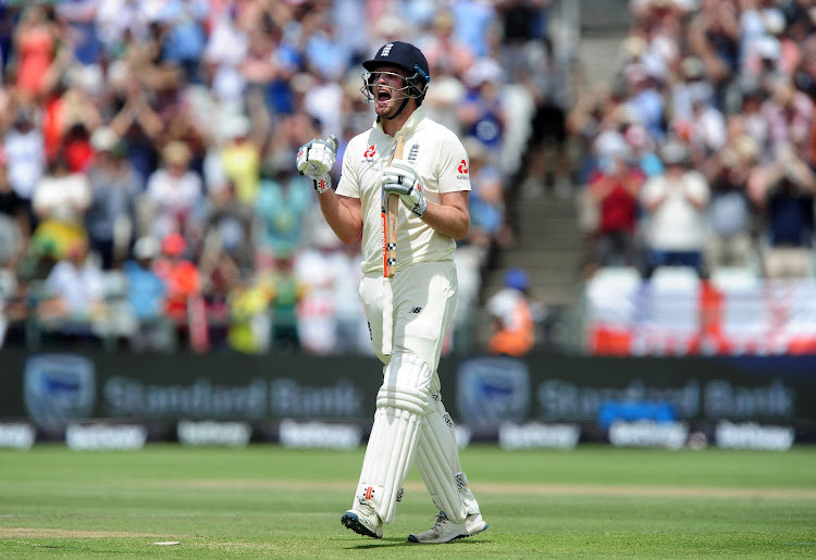 Dom Sibley of England celebrates his maiden test century. His ton was the first of this four-match test series.
