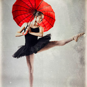 Very Pointey by Monte Arnold - People Musicians & Entertainers ( tutu, umbrella, beautiful, ballet, graceful, dance, pointe,  )