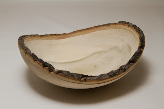 "Photo: Duane Schmidt 8"" x 3"" Natural edge bowl [tulip popular]"