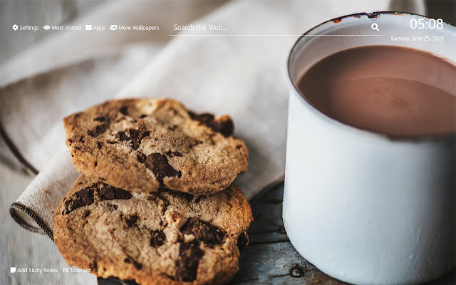 Chocolate Chip Muffin Wallpaper HD New Tab