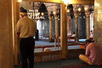 Photo: Day 115 -  Area Where the Meuzzin Would Sit and Give the Call to Prayer - The Yeni Mosque