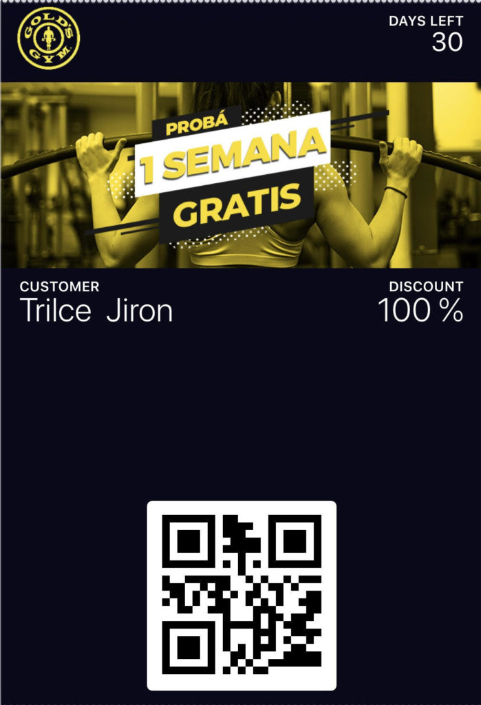 Gold's Gym QR code example