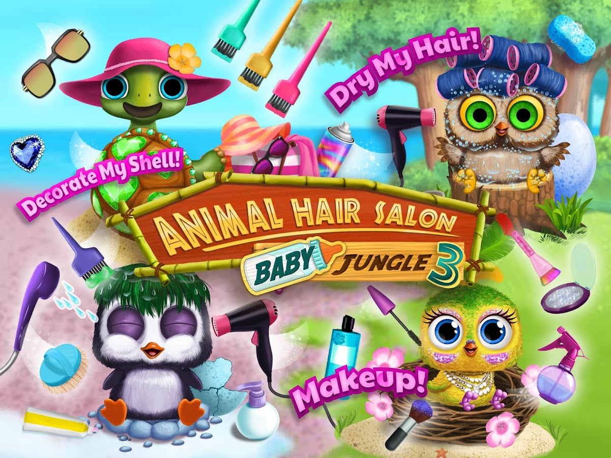 Baby Animal Hair Salon 3 - Newborn Hatch & Haircut- screenshot