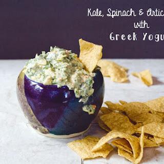 Kale, Spinach & Artichoke Dip With Greek Yogurt.