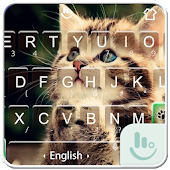 Cute Cat Emoji Keyboard Theme