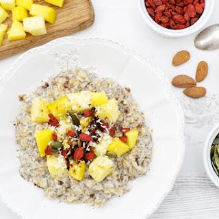 Pineapple & Mango Ginger Porridge [vegan] [gluten free]