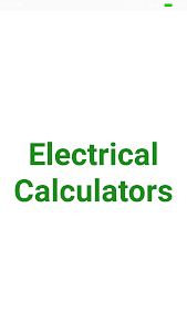 Electrical Calculator 3.1.1
