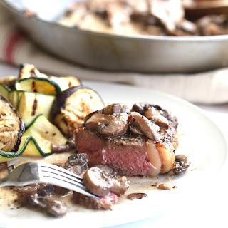 Steak with Creamy Mushroom Sauce