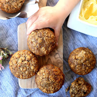 Healthy Oatmeal Chia Seed Muffins.
