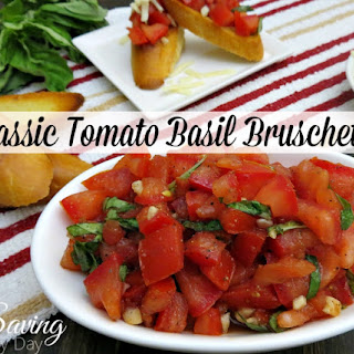 Classic Tomato Basil Bruschetta