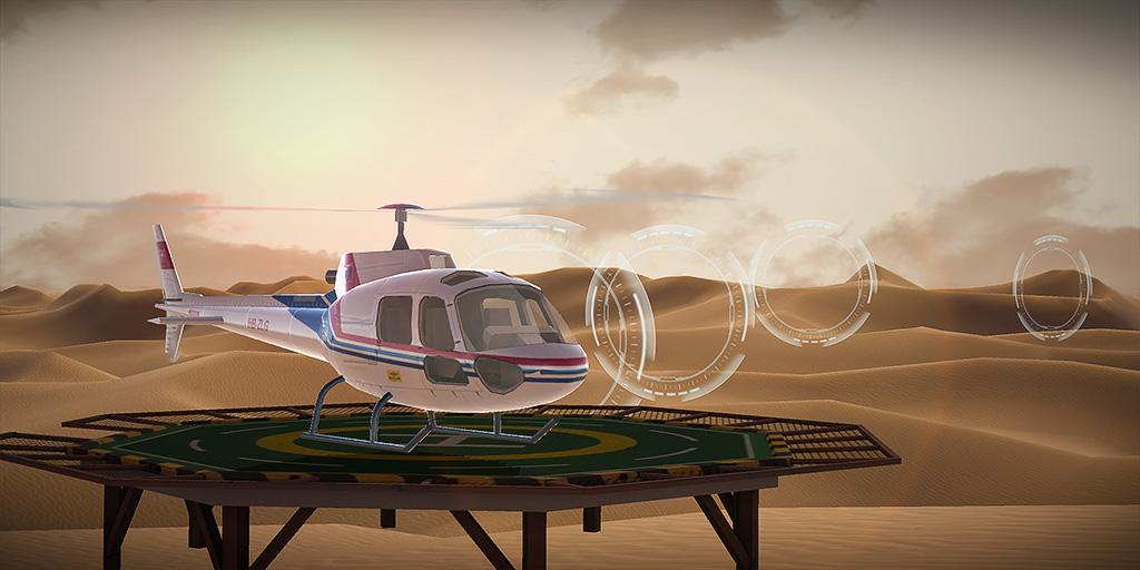 Helicopter simulator: Racer game- screenshot