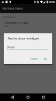 Screenshot of My Next Alarm - Widget