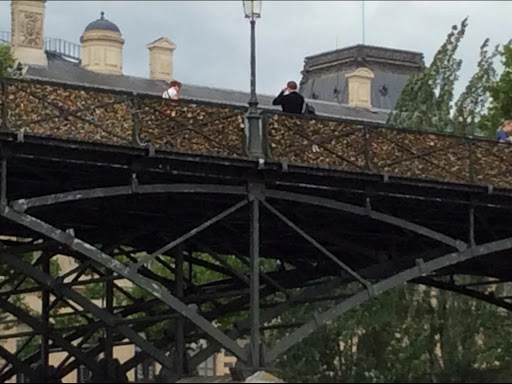 Key Bridge on Seine River in Paris lock your love