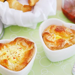 Panera Bread Ham and Swiss Baked Egg Soufflés