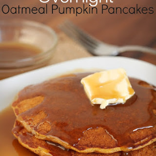 Overnight Oatmeal Pumpkin Pancakes...Healthy and Deliciously filling!