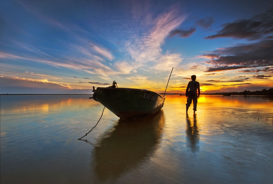 Just U and Me by Razali Ahmad - Landscapes Waterscapes