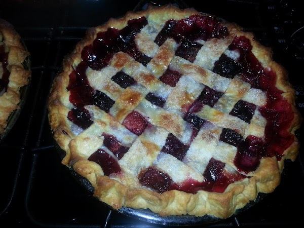 Remove from oven let cool to room temperate so the pie sets, you can...