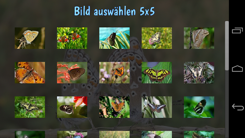 android Tile Puzzles · Butterflies Screenshot 0