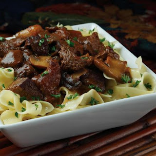 Apple-Mushroom Slow Cooker Swiss Steak.