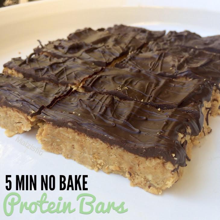 5 Min No Bake Protein Bars Recipe