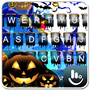 Live Lightning Halloween Keyboard Theme