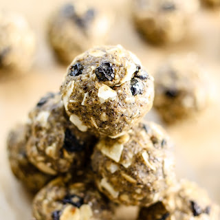 Blueberry Coconut Oat Energy Balls.