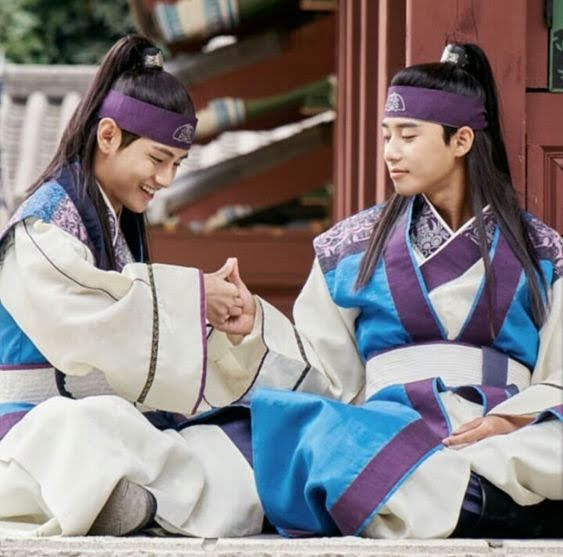 Bts V and Park Seo-Joon at Hwarang