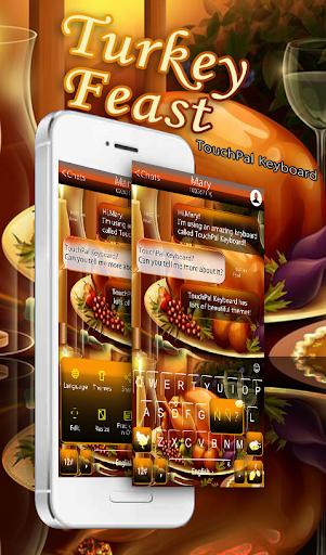 Turkey Feast Keyboard Theme Screenshot