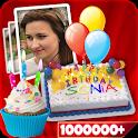 Name On Birthday Cake - Video,Photo,Creater icon