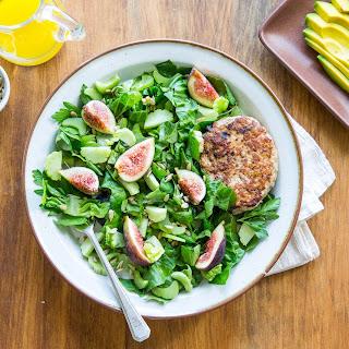 Turkey Burger & Fig Salad