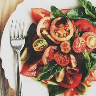 The Right Goodbye-Summer Tomato Spinach Salad.