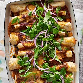 Roasted Squash and Black Bean Enchiladas.