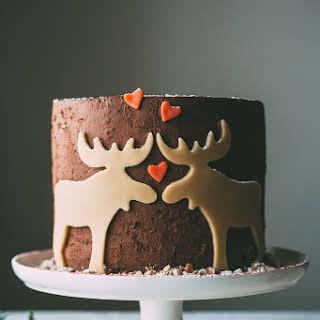Marzipan Moose Mousse Cake.