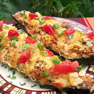 Taco Chicken Super Stuffed Zucchini