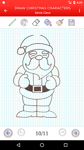 how to draw christmas holiday characters videos screenshot 3