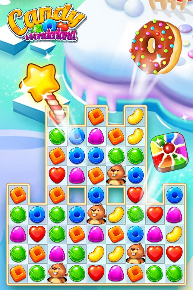 Скриншот Candy Wonderland Match 3 Games