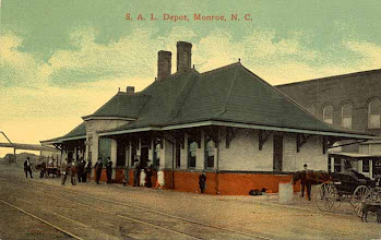 Photo: Postmark 1910 - In 1906, the Seaboard Air Line Railway secured land on which to build both a freight depot and passenger depot. Cost was expected to be $60,000.