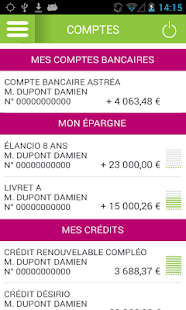 Application mobile GBanque- screenshot thumbnail