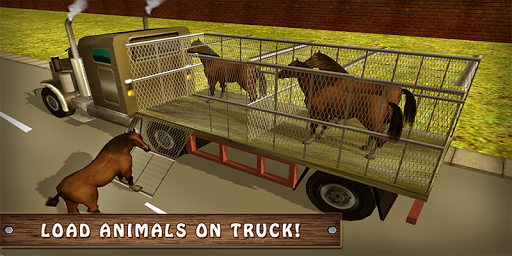 Wild Horse Zoo Transport Truck Simulator Game 2018  screenshots 3