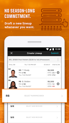 DraftKings - Daily Fantasy Football screenshot