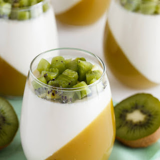 Kiwi Passion Fruit Panna Cotta Recipe