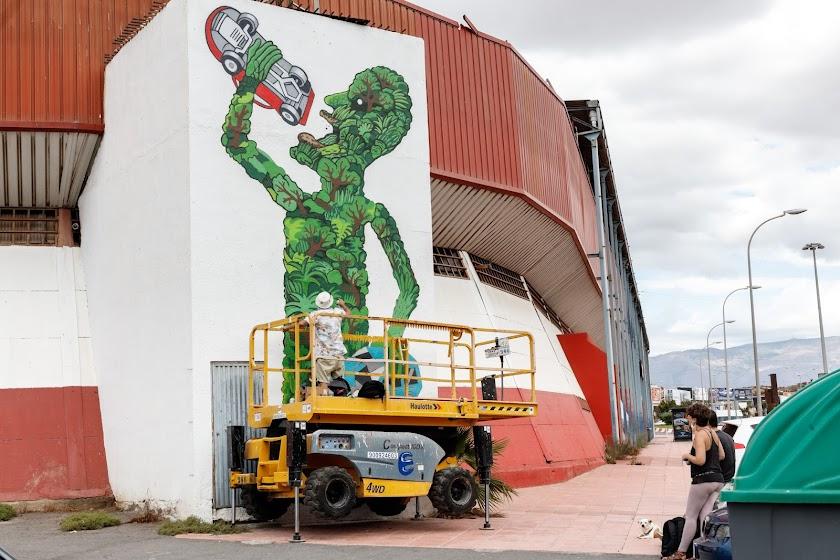 Urban Lei: artistas urbanos decoran Almería