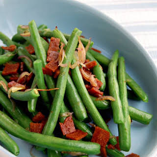 Vegan Green Beans and Bacon.