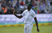 Kagiso Rabada of South Africa during day 4 of the 1st Sunfoil Test match between South Africa and India at PPC Newlands on January 08, 2018 in Cape Town, South Africa.