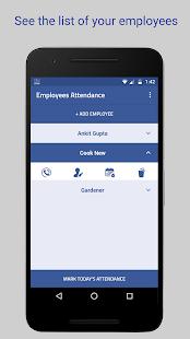 Employee Attendance - náhled