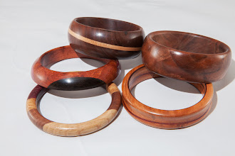 "Photo: Mike Colella 3"" x 3"" Bangles [various woods]"
