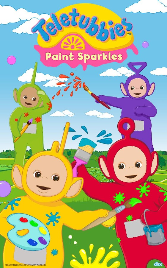 Teletubbies Paint Sparkles Screenshot