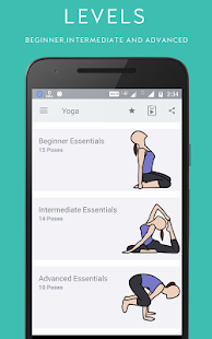 Yoga Fitness Training App Screenshot