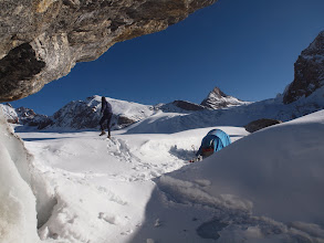 Photo: Next morning after a desperate camp at 5200m