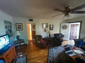 Photo: Panoramic shot of the living room of where we stayed in Flagstaff